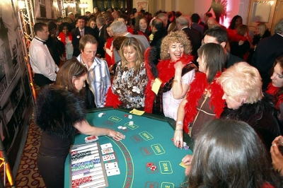 Lost Vegas Casino Hire - Blackjack Casino Table and Croupier
