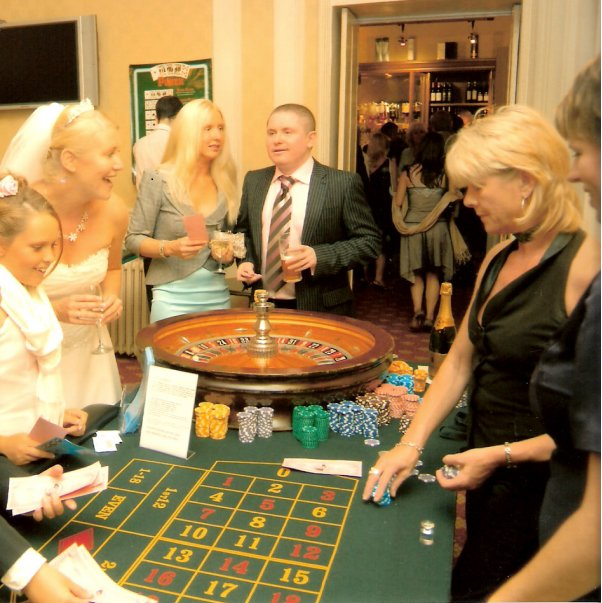 Wedding casino hire, casino wedding hire