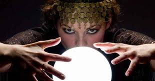 Gypsy reading a crystal ball