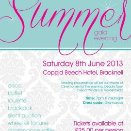 Charity Summer Ball in Bracknell at Coppid Beech Hotel