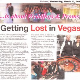 Lost Vegas Casino Hire in Midweek News